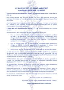 Conditions concerts de Saint-Ambroise