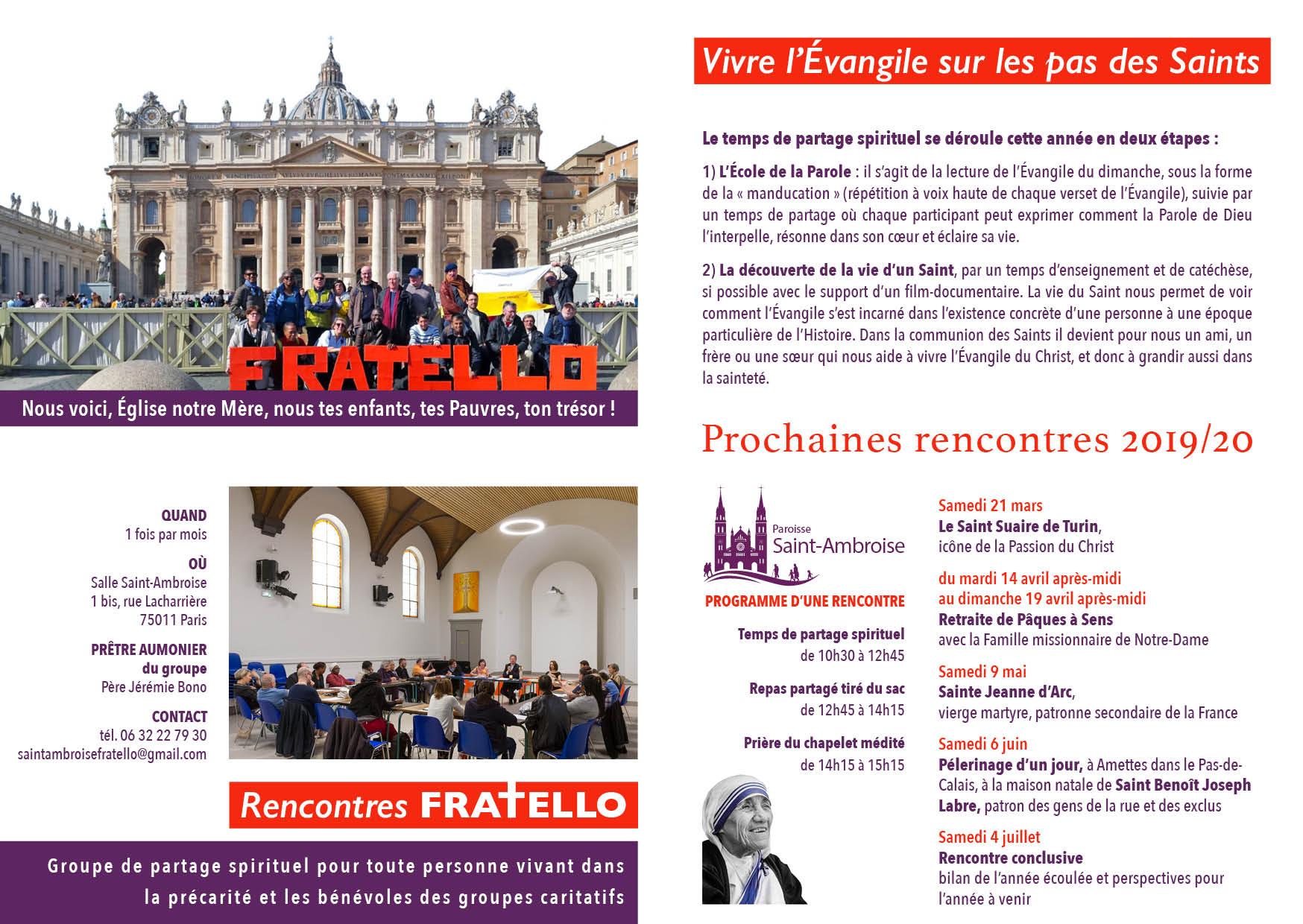 Programme FRATELLO 2020-02-16