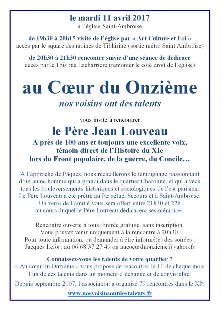 conférence du Père Louveau