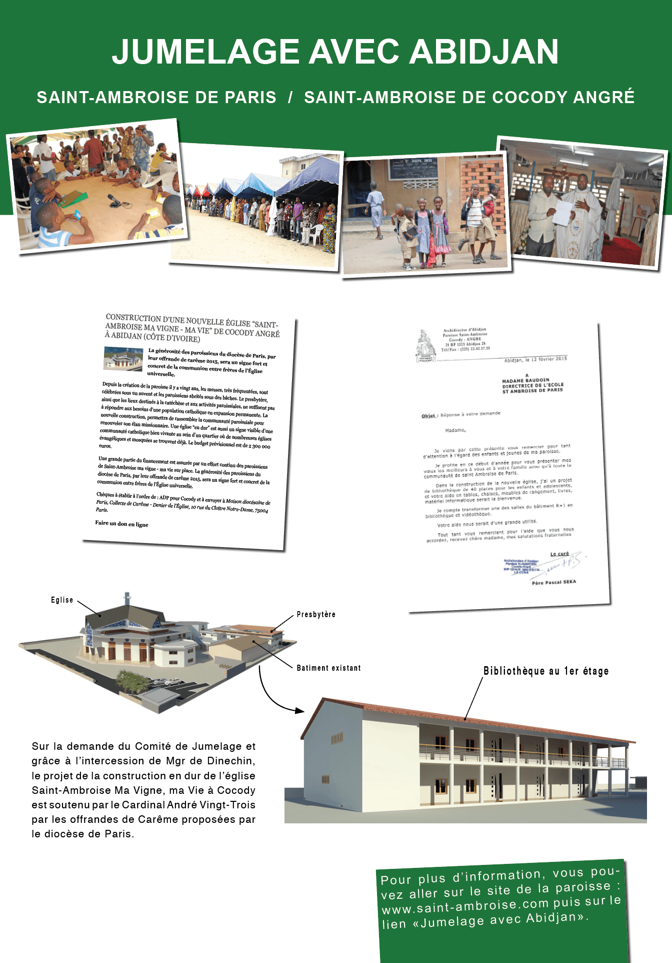 Panneau jumelage Abidjan 2014 2015