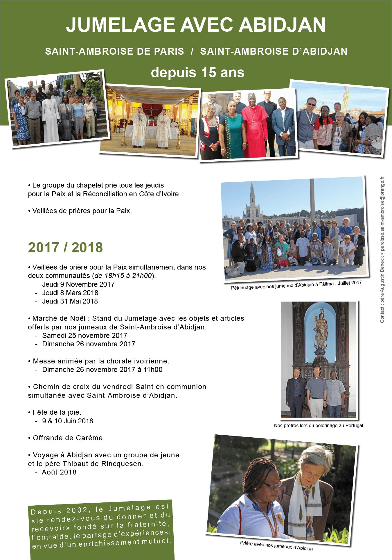 Panneau jumelage Abidjan 2017 2018