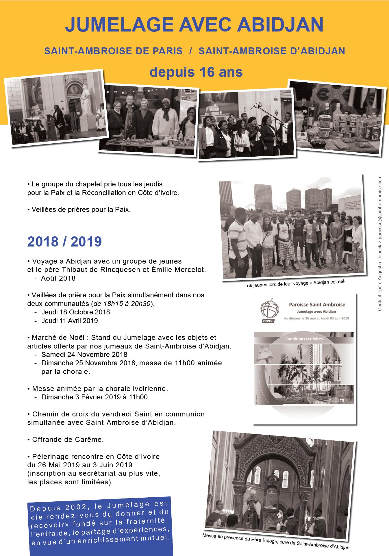 Panneau jumelage Abidjan 2018 2019