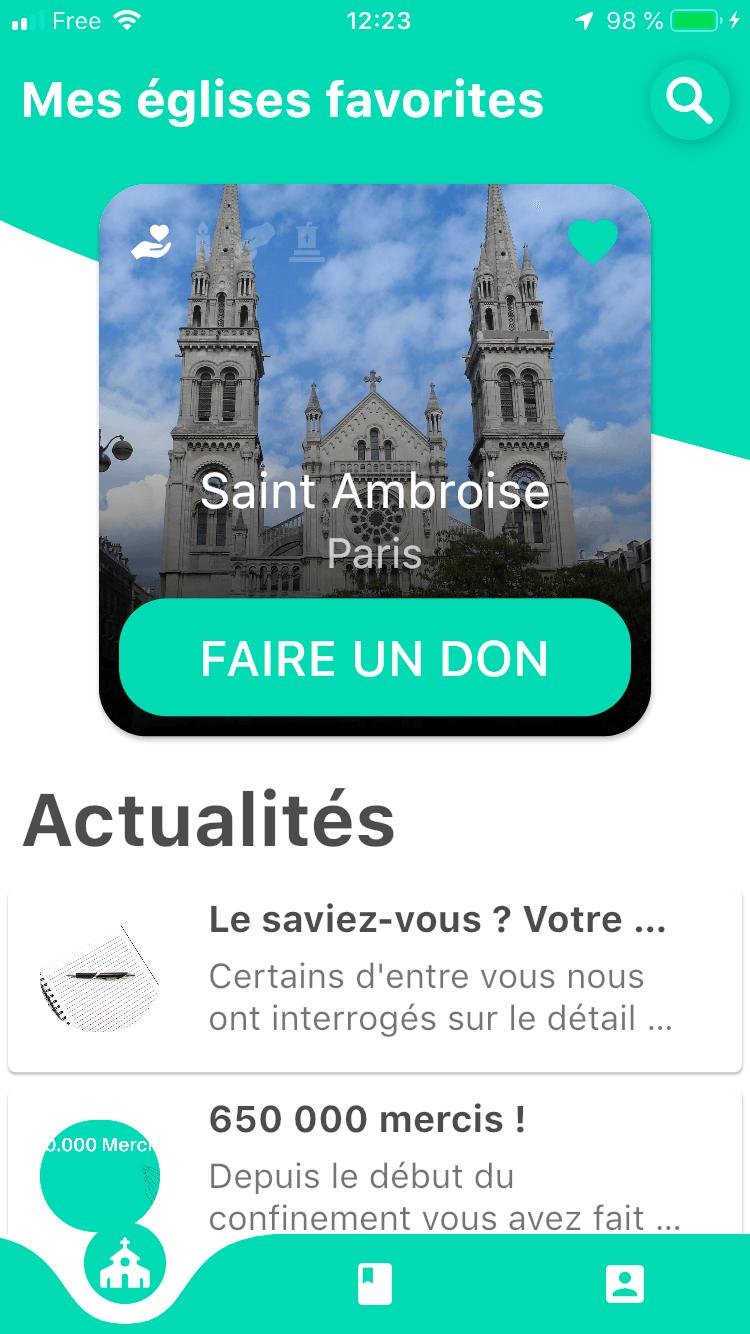 Application quête Saint-Ambroise