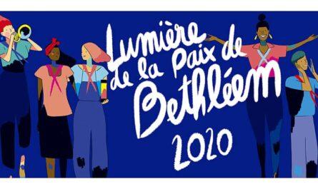 Affiche de la Lumière de la paix de Bethléem des Scouts et Guides de France