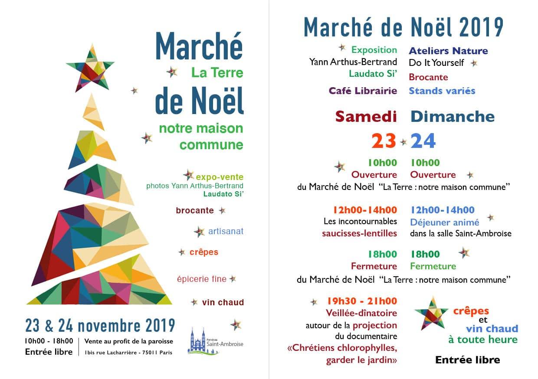 Marché de Noël 2019, programme à Saint-Ambroise
