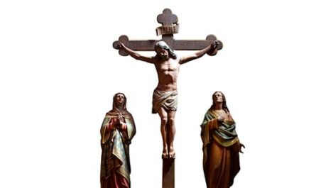 Carême à Saint-Ambroise, Jésus sur La Croix avec Marie