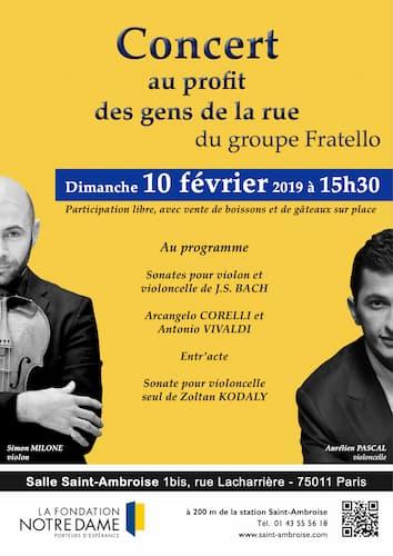 Concert Affiche Saint Ambroise