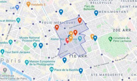 Carte des limites de Saint-Ambroise