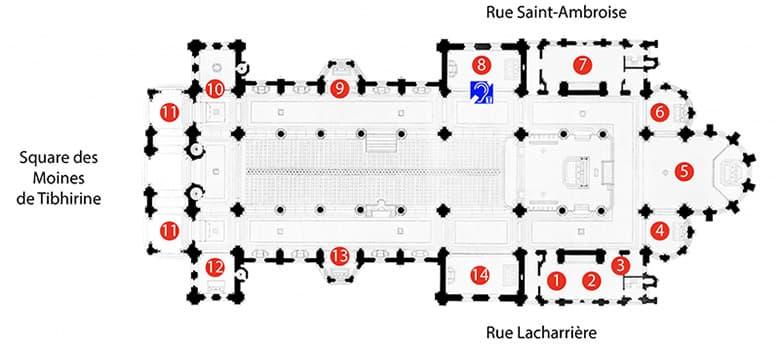 Plan de l'église Saint-Ambroise