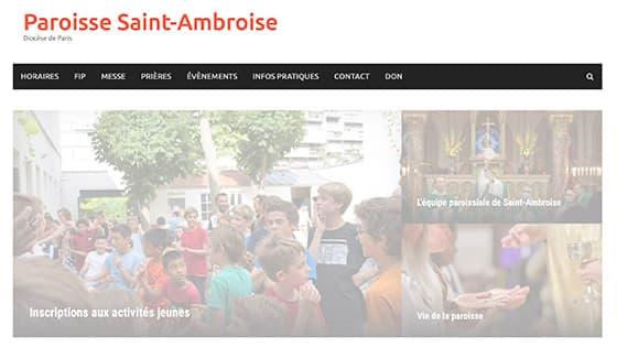 site Saint-Ambroise confidentialité
