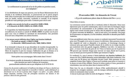 Feuille paroissiale n° 44 du 29 novembre 2020