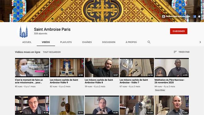Saint Ambroise Ecran Youtube