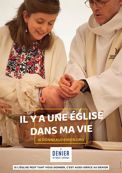 Affiche du Denier 2021, Baptême