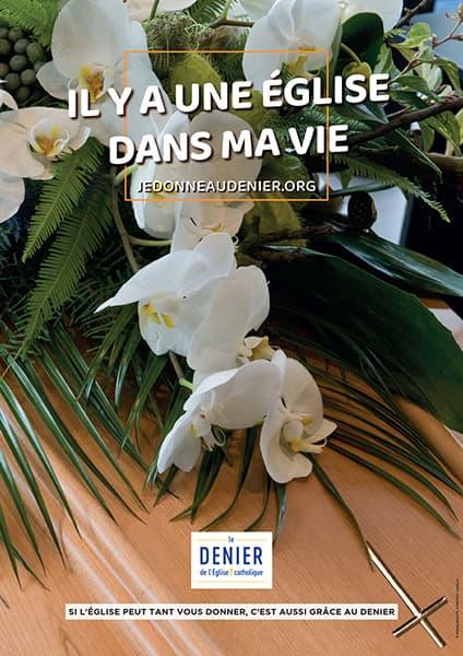 Affiche du Denier 2021, Funérailles