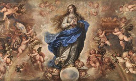 Peinture sur la Fête de l'Immaculée Conception de la Vierge Marie