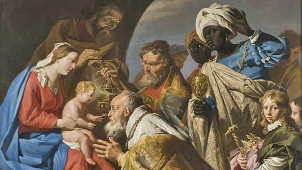 Tableau sur l'Adoration des Mages