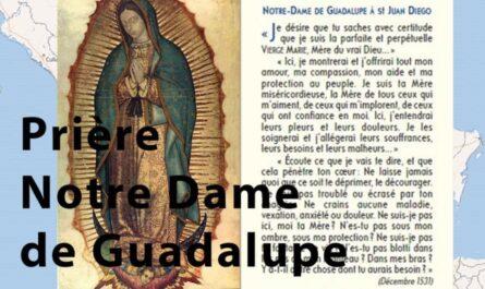 Prière Notre-Dame de Guadalupe, annonce
