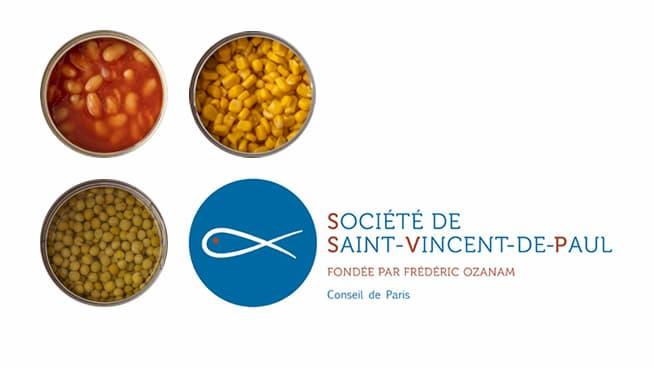 Collecte alimentaire Saint-Vincent-de-Paul, Paris 11