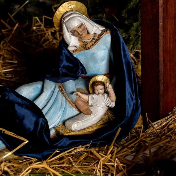 crèche de Noël 2021 avec Marie et Jésus