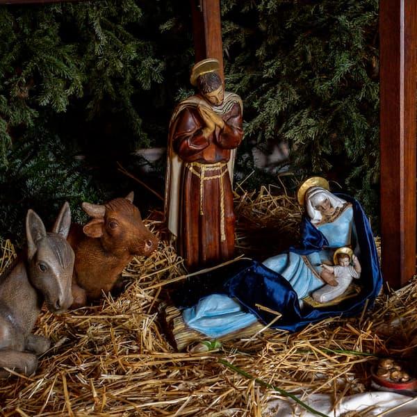 crèche de Noël 2020 avec Marie, Joseph et Jésus à Saint Ambroise