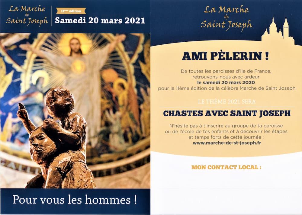 Marche Saint-Joseph, tract 2021