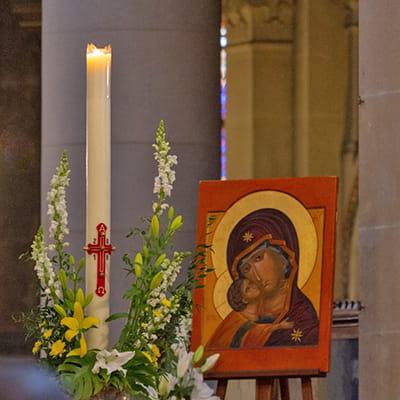 dimanche Pâques cierge