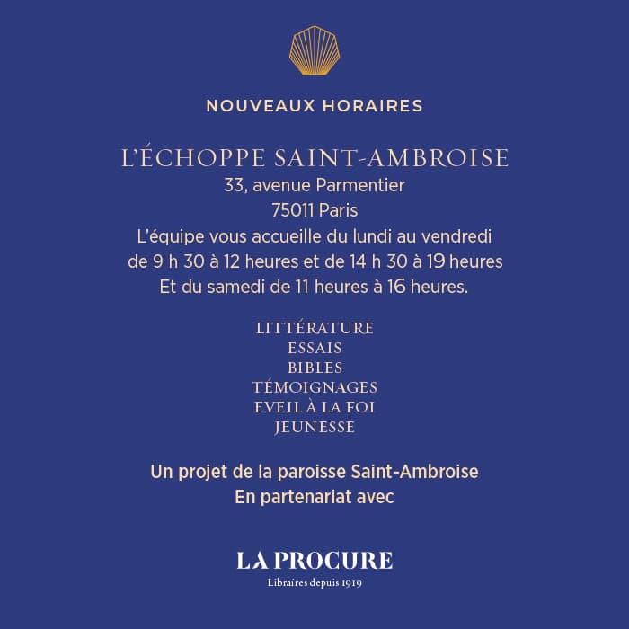 Echoppe Saint Ambroise Affiche avec la Procure Librairie