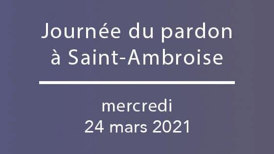 Journées du pardon 2021