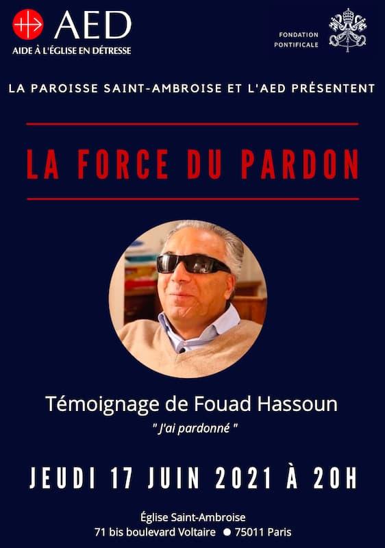 Affiche conférence sur la force du Pardon