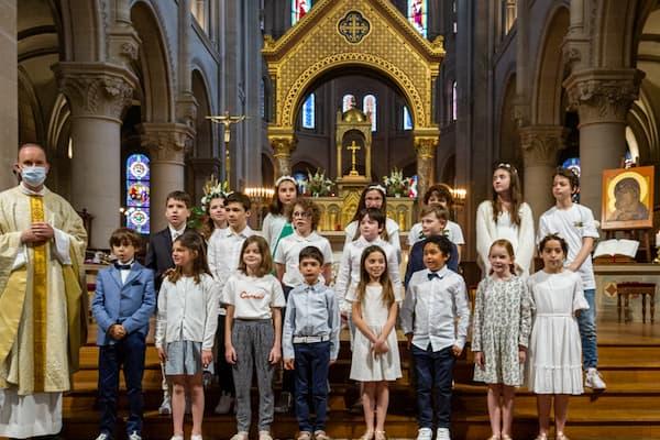 1ère communion des enfants, photos du 06/06/2021