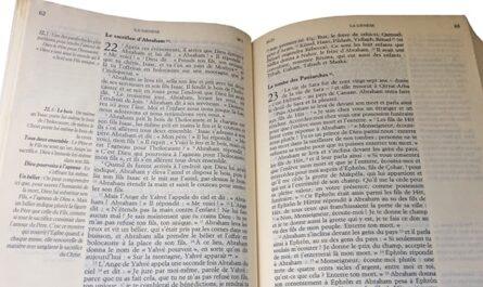 Bible ouverte pou méditer la parole