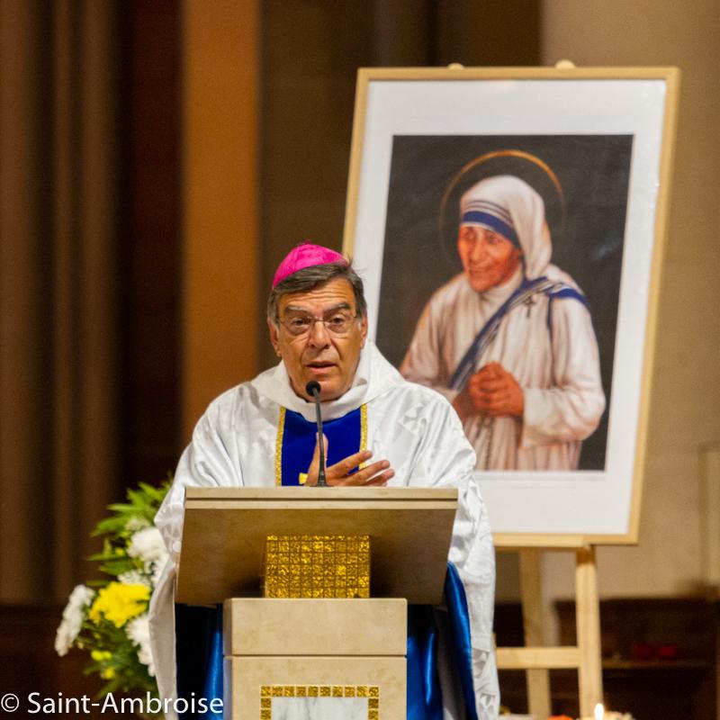 Mgr Michel Aupetit, portrait de Saint Teresa de Calcutta