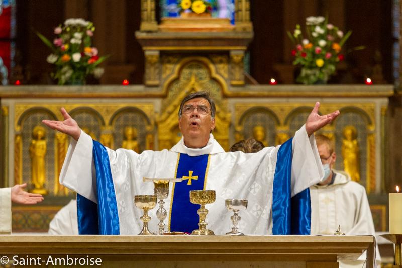 Mgr Michel Aupetit à Saint Ambroise