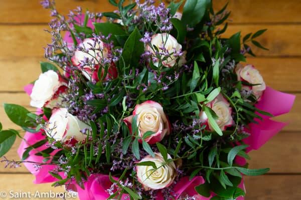 Bouquet de fleurs messe